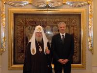 Святейший Патриарх Алексий встретился с Президентом Сербии Борисом Тадичем