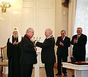 Церемония вручения знака 'Почетный Гражданин Москвы'