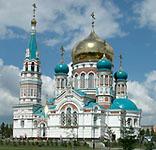 В Омске совершено освящение возрожденного Свято-Успенского кафедрального собора