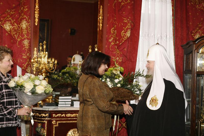 Вручение ордена прп. Евфросинии Московской