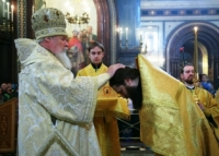 В Прощеное воскресенье Святейший Патриарх Алексий совершил Божественную литургию в Храме Христа Спасителя