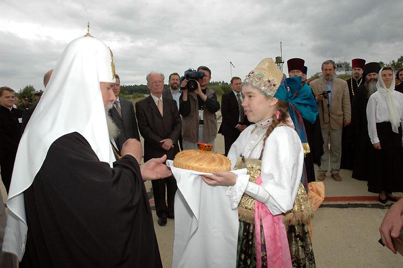 300-летие Саровской пустыни. Встреча Святейшего Патриарха Алексия в Сарове.