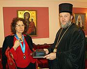 Известный переводчик сербской духовной литературы Светлана Луганская награждена орденом святителя Саввы Сербской Православной Церкви