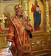 Епископ Бронницкий Игнатий совершил праздничную Литургию в храме мучениц Веры, Надежды, Любови и матери их Софии на Миусском кладбище