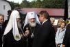 Патриарший визит в Калининград. Встреча в аэропорту и посещение Свято-Никольского монастыря.