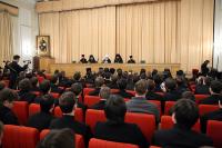 Местоблюститель Патриаршего престола митрополит Кирилл встретился со студентами Московских духовных школ