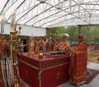 Святейший Патриарх Алексий совершил Божественную литургию и панихиду на Бутовском полигоне