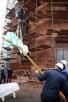 Освящение и установка креста на купол храма святого равноапостольного князя Владимира в Лиховом переулке