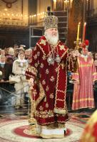 Предстоятель Русской Православной Церкви совершил Пасхальную вечерню в Храме Христа Спасителя