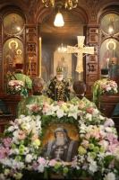 Святейший Патриарх Кирилл совершает Литургию Преждеосвященных Даров в Казанском храме в Вырице