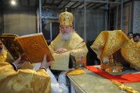 Предстоятель Русской Православной Церкви совершил Божественную литургию в Софийском соборе Великого Новгорода