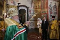 В Благовещенском соборе Кремля состоялся молебен по случаю вступления в должность Президента России Дмитрия Медведева