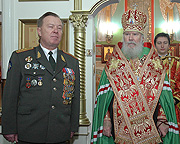 Святейший Патриарх Алексий совершил молебен в храме вмц. Варвары во Власихе (при штабе РВСН)