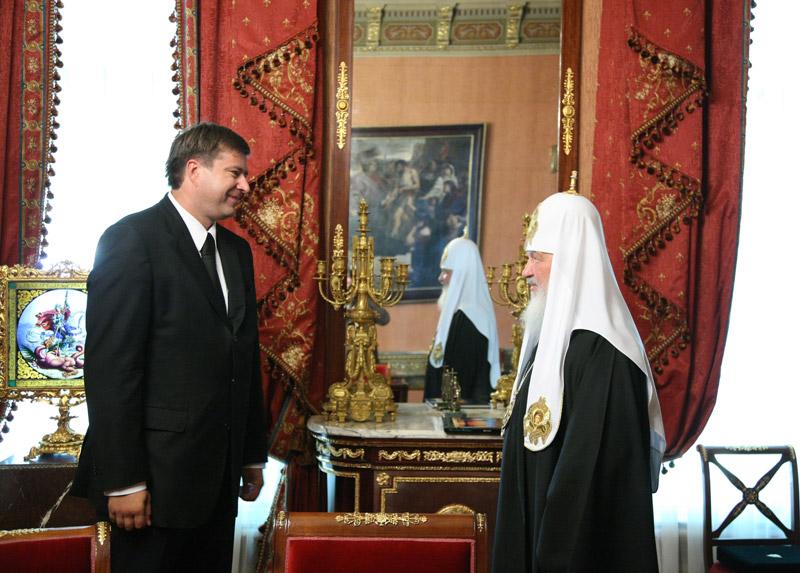 Встреча Святейшего Патриарха Кирилла с министром юстиции Российской Федерации А.В. Коноваловым