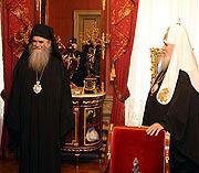 Святейший Патриарх Алексий встретился c митрополитом Черногорским и Приморским Амфилохием