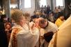 Визит Святейшего Патриарха Кирилла в Константинопольский Патриархат. День второй. Божественная литургия Предстоятелей Константинопольской и Русской Православных Церквей в Георгиевском Патриаршем соборе на Фанаре.