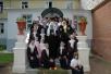 Посещение Святейшим Патриархом Стефано-Махрищского монастыря (30.07.2005). Встреча с воспитанницами детского приюта.