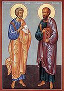 12 июля Церковь празднует память святых первоверховных апостолов Петра и Павла