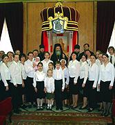 Предстоятель Иерусалимской Церкви принял московский церковный хор