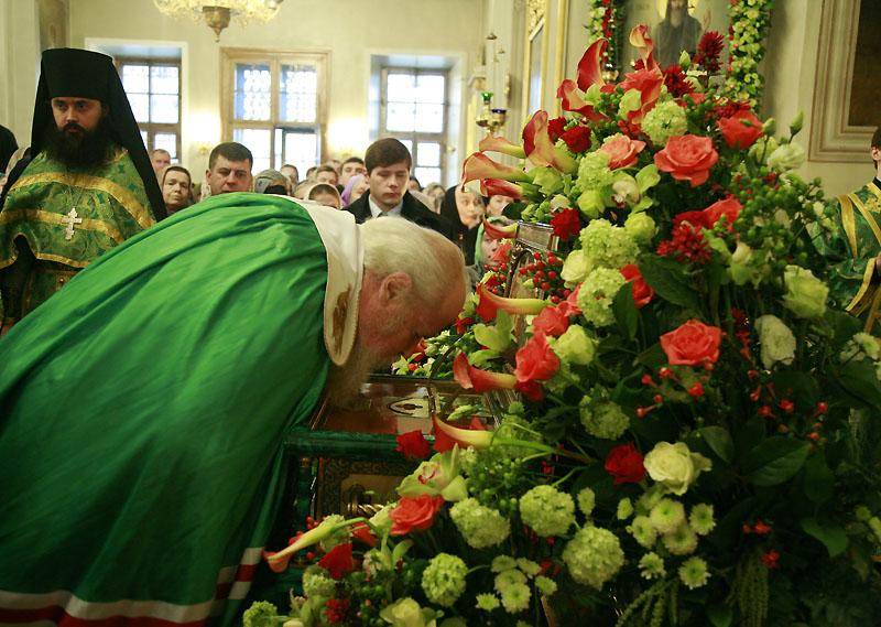 Патриаршее служение в день памяти святого благоверного князя Даниила Московского
