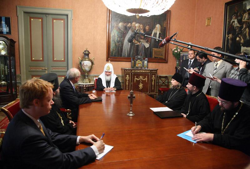 Встреча Святейшего Патриарха Кирилла с послом США в России Джоном Байерли