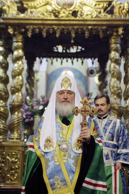 Патриарший молебен в Донском монастыре в день памяти святителя Тихона, Патриарха Всероссийского
