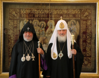 Предстоятель Русской Православной Церкви встретился с Католикосом всех армян Гарегином II