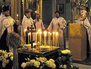 В Богоявленском кафедральном соборе Москвы прошла панихида о упокоении «всех, в годину безбожного властительства от глада скончавшихся»