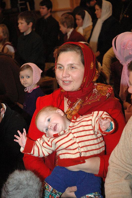 Награждение многодетных матерей Патриаршим «Знаком материнства»
