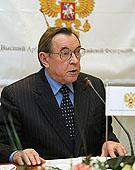 Патриаршее поздравление бывшему Председателю Высшего Арбитражного Суда Российской Федерации В.Ф. Яковлеву с 75-летием со дня рождения