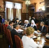 Президент РФ встретился со Святейшим Патриархом Кириллом и участниками Группы высокого уровня по межрелигиозному диалогу при Генеральном директоре ЮНЕСКО