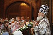 Слово Святейшего Патриарха Кирилла за Божественной литургией в день праздника Владимирской иконы Божией Матери