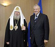 Состоялась беседа Святейшего Патриарха Алексия с генеральным секретарем Совета Европы Терри Дэвисом