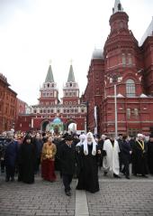 Святейший Патриарх Кирилл возглавил праздничное шествие, посвященное Дню народного единства
