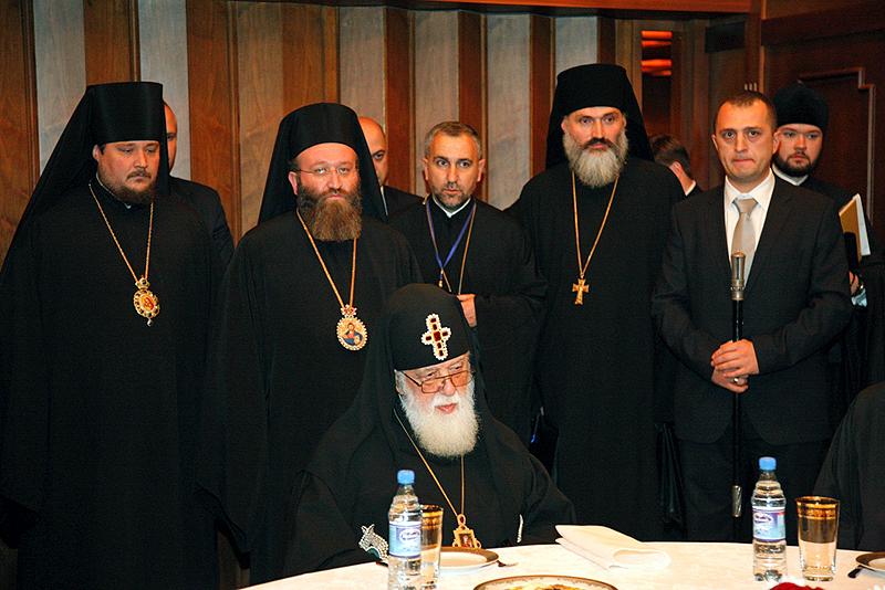 Патриарший визит в Азербайджан. Встреча с Католикосом-Патриархом всея Грузии Илией II.