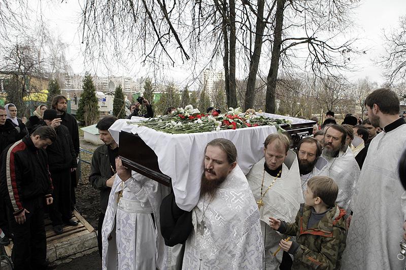 Прощание со священником Даниилом Сысоевым