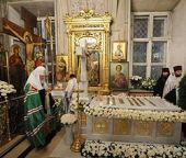 Святейший Патриарх Кирилл совершил парастас в Богоявленском кафедральном соборе
