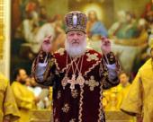 В день памяти святого благоверного князя Александра Невского Святейший Патриарх Кирилл совершил Божественную литургию в Храме Христа Спасителя