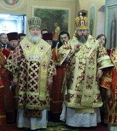 Святейший Патриарх Кирилл и Блаженнейший Митрополит Иона возглавили торжества в честь 15-летия открытия московского представительства Православной Церкви в Америке