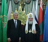 В Храме Христа Спасителя состоялась встреча Святейшего Патриарха Кирилла с Генеральным секретарем Совета Европы Турбьëрном Ягландом