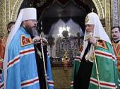 Предстоятель Русской Церкви поздравил Митрополита всей Америки и Канады Иону с годовщиной интронизации