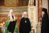Патриарший визит в Ростовскую епархию. Божественная литургия в Вознесенском соборе Новочеркасска.