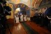Патриаршее служение в Рождественский сочельник в Покровском храме Новоспасского монастыря