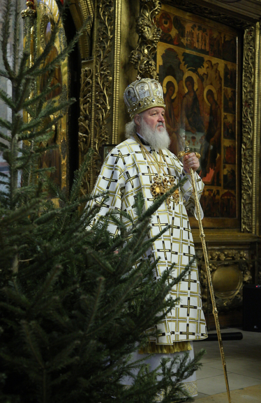 Патриаршее служение в Неделю по Рождестве Христовом в Троице-Сергиевой лавре