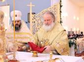 Предстоятель Русской Православной Церкви совершил великое освящение Успенского кафедрального собора в Астане
