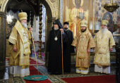 В день памяти святителя Филиппа Предстоятель Русской Церкви совершил Божественную литургию в Успенском соборе Кремля