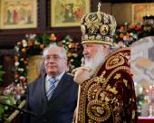 В день памяти святой мученицы Татианы Святейший Патриарх Кирилл совершил Божественную литургию в домовом храме МГУ