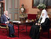 На телеканале «Россия» состоялась трансляция интервью Святейшего Патриарха Кирилла