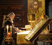 В первую годовщину интронизации Святейшего Патриарха Кирилла в Храме Христа Спасителя совершается Божественная литургия