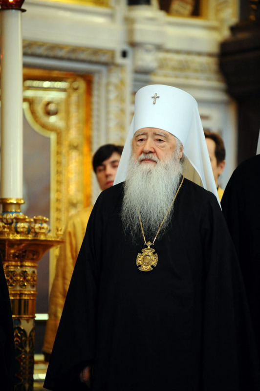 Божественная литургия в день первой годовщины интронизации Святейшего Патриарха Московского и всея Руси Кирилла